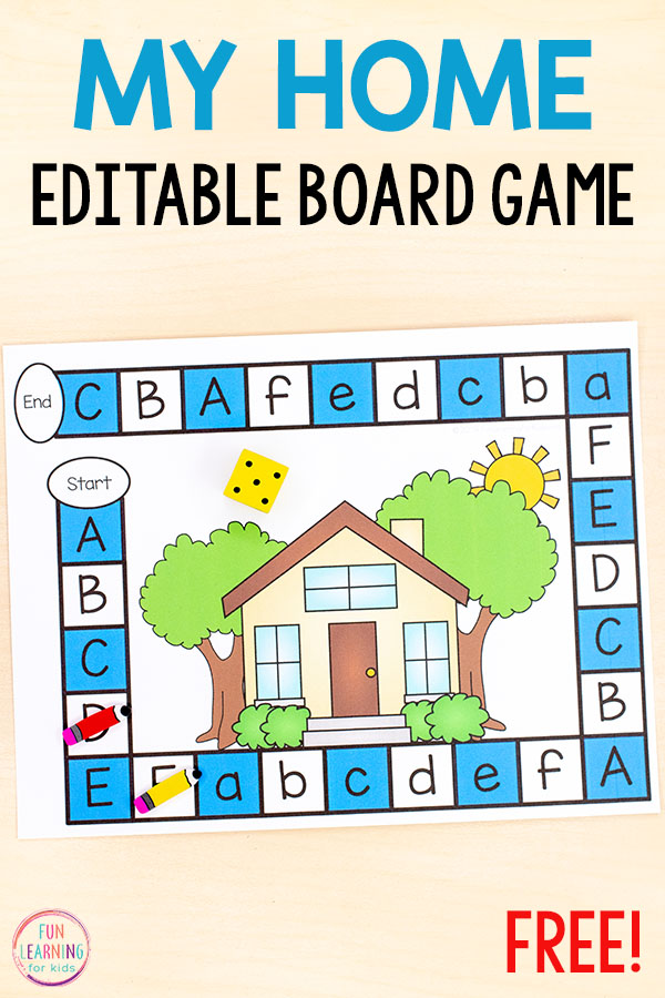 An all about me themed board game for teaching letters, numbers, sight words and more. The kids will love this editable board game when you add it to literacy centers or small group instruction.
