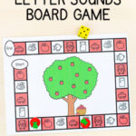 Editable Apple Tree Letter Sounds Board Game