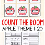Apple Theme Count the Room Printables