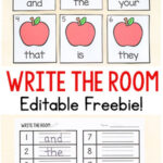 Editable Apple Sight Word Write the Room