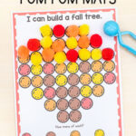Fall Fine Motor Mats with Pom Poms