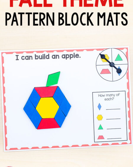 Fall pattern block mats for math centers.