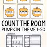 Pumpkin Theme Count the Room Printables