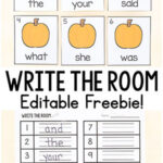 Editable Pumpkin Sight Word Write the Room
