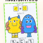 Silly Monster Addition and Subtraction Mats