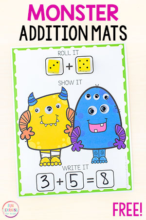 A fun monster math activity for math centers!