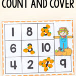 Pumpkin Count and Cover Numbers Activity