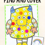 Monster Find and Cover the Letters Alphabet Activity
