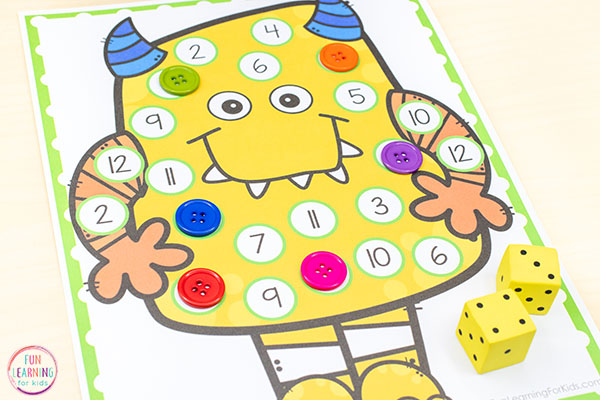 The kids are going to love this fun monster activity for preschool or kindergarten.