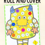 Silly Monster Roll and Cover Math Game