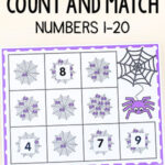 Spider Web Count and Match Counting Activity
