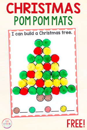 Christmas fine motor activity mats for kids.