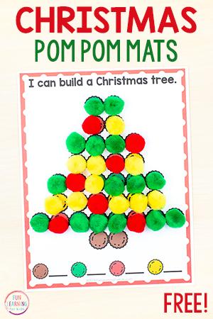 Christmas fine motor activity mats for kids.