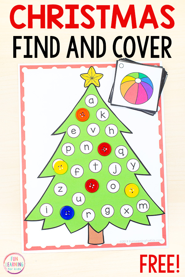 Christmas Tree Find And Cover The Letters Alphabet Activity