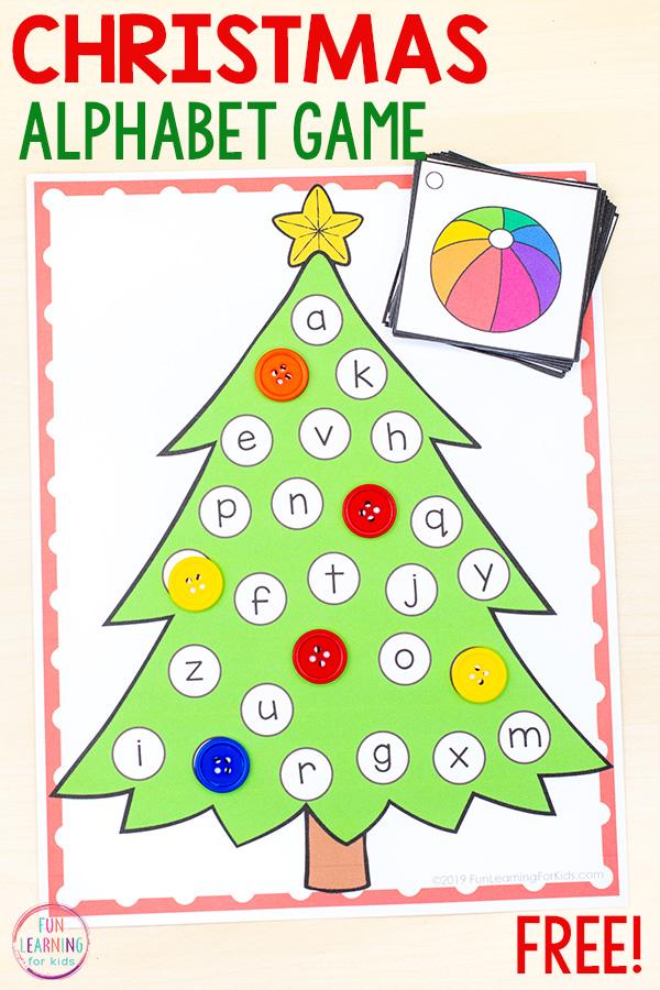 Christmas alphabet activity mats