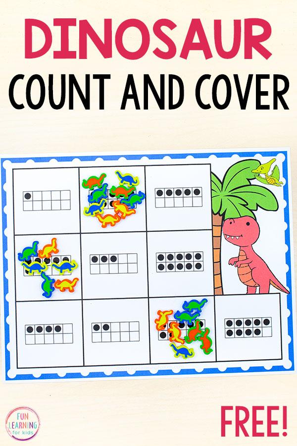 Dinovember math activity for kids.