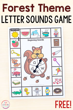 Forest theme beginning sounds games.