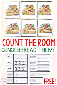 Gingerbread counting activity.