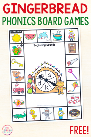 Gingerbread Phonics Games