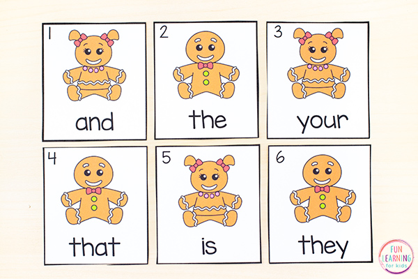 Gingerbread bread theme write the room cards that are editable so you can type in any words you want.