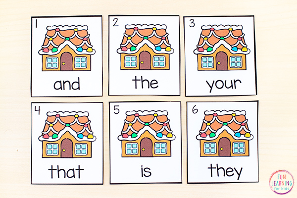 Gingerbread house write the room cards that are editable so you can type in any words you want!