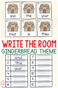 A free printable write the room activity for Christmas. This editable write the room activity is perfect for Christmas literacy centers.