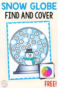 Snowman alphabet activity