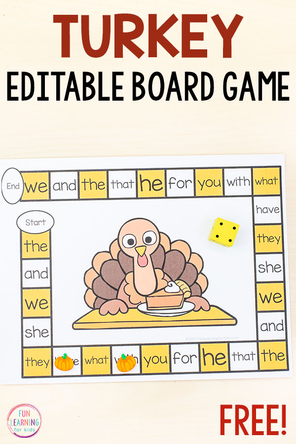 Thanksgiving board game with a turkey in the middle.
