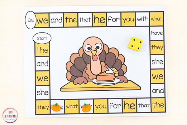 A fun Thanksgiving game for kids.