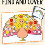 Turkey Find and Cover the Letters Alphabet Activity