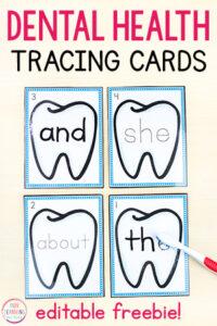 A fun dental health theme activity.