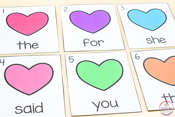 Heart theme write the room activity with recording sheets