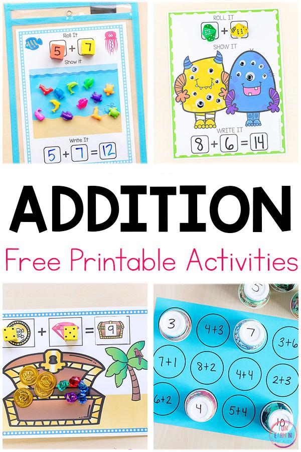 Free Addition Activities