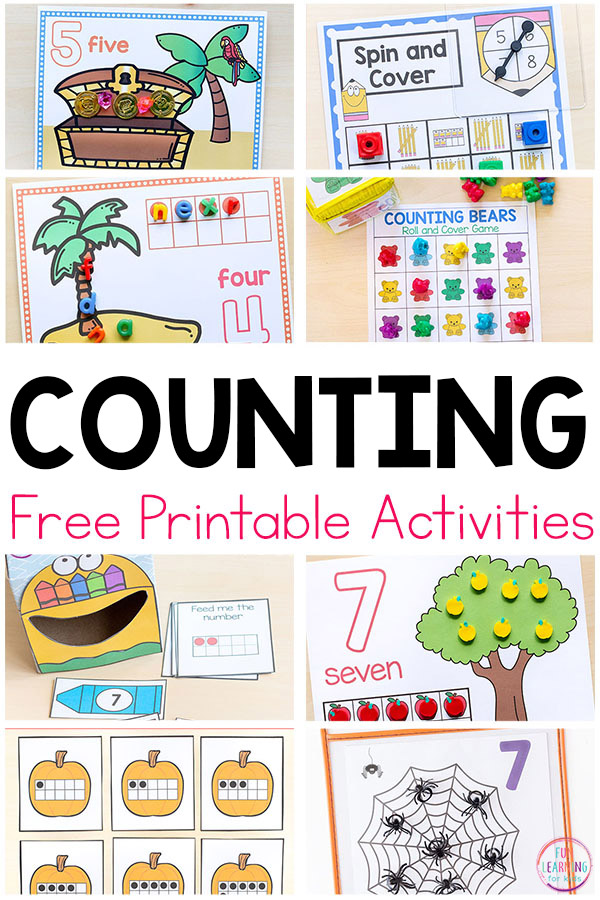 Free Printable Numbers And Counting Activities