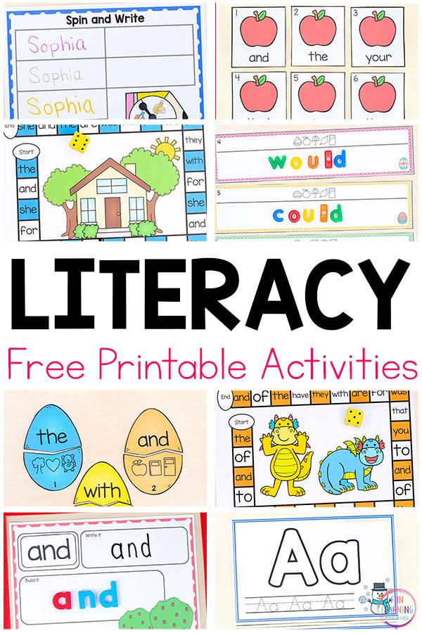 Free Literacy Printables