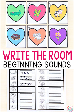 Valentine's Day beginning sounds write the room.