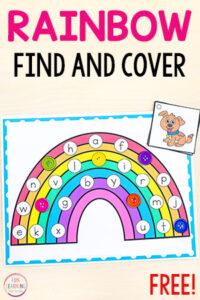 Free printable rainbow alphabet activity mats.