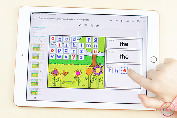 Free digital sight word mats for spring.