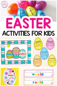 Easter theme activities for kids to do at home or at school.