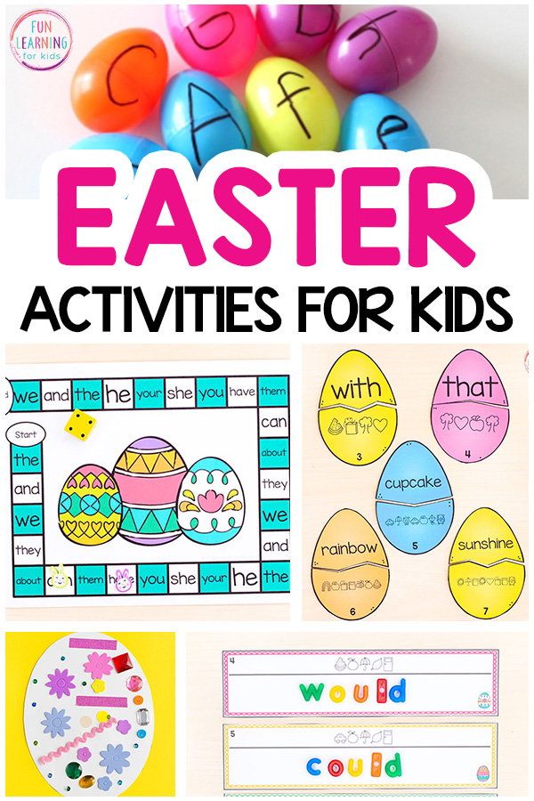 A list of the best Easter activities for kids.