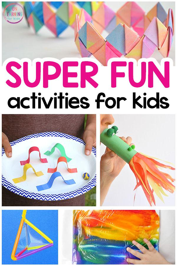 Super Fun Activities For Kids To Do Indoors