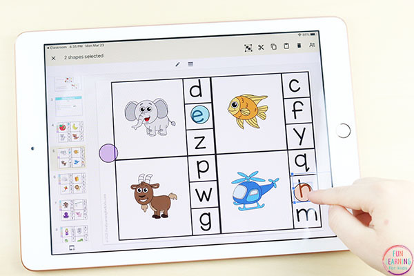 An interactive digital alphabet activity for Pre-K and Kindergarten.