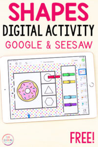 Shapes activity for Google Slides and Seesaw.