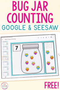 Bug jar counting activity for Seesaw and Google Slides.