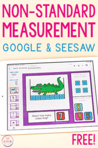 Non-standard measurement for Google Slides and Seesaw.
