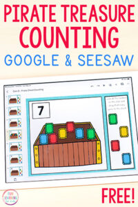 Pirate Counting Activity for Google Slides and Seesaw.