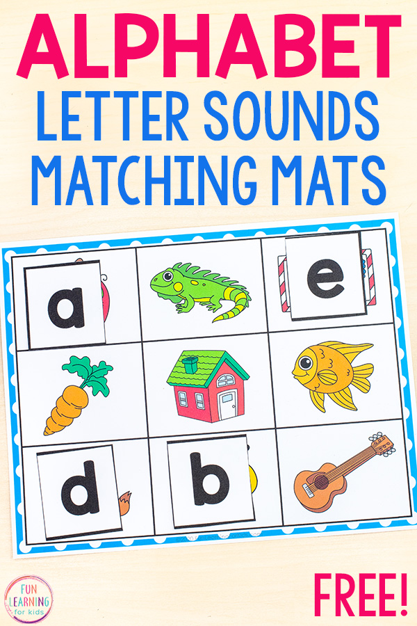 Free alphabet mats with printable letter tiles. Perfect for distance learning!