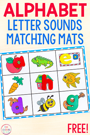 Alphabet matching mats for preschool, pre-k and kindergarten alphabet centers.