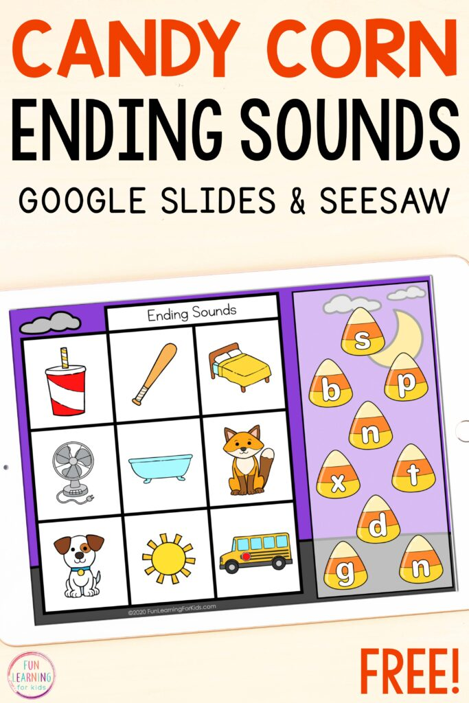 Free paperless beginning sounds, middle sounds, and ending sounds mats for isolating letter sounds.