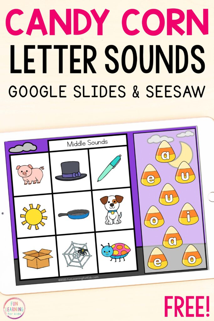 Work on initial sounds, medial sounds, and final sounds with this fun paperless activity.